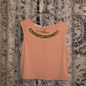 Nordstrom Beaded Cropped Blouse